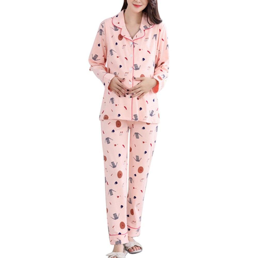 New Maternity Breastfeeding pajama breast feeding nightwear nursing pajamas set maternity nursing sleepwear pregnancy pyjamas