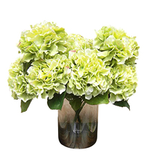 5 Big Heads Silk Artificial Fake Flower Bouquet Floral Hydrangea Wedding Party Decor Flores Artificiales
