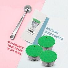 Новая мода удобные мульти-шаблон бытовой нержавеющая сталь Кофе фильтр многоразовая капсула для кофе сделать для Dolce Gusto