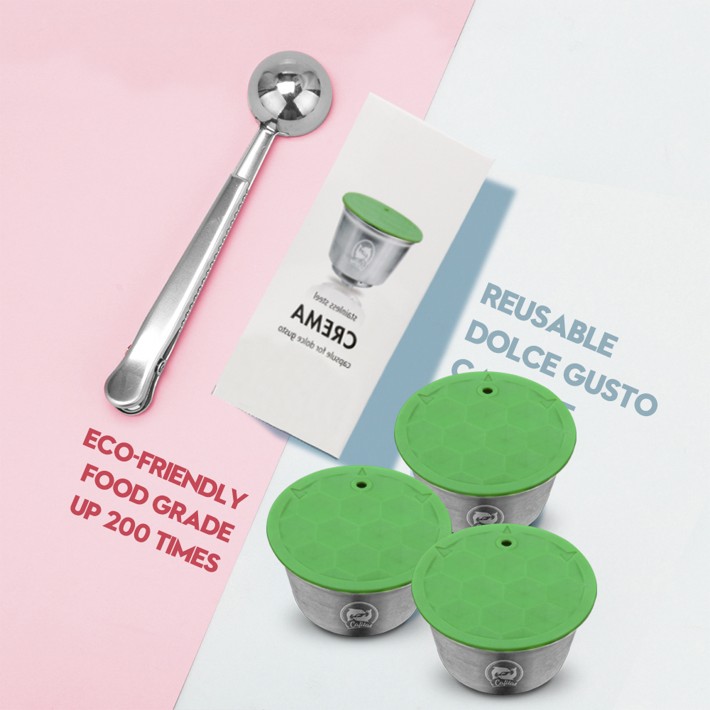 2019 New Fashion Comfortable Multi-pattern Household Stainless Steel Coffee Filter Reusable Coffee Capsule Make For Dolce Gusto