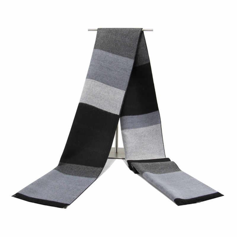 Новые Утепленные зимние женские мужские модные клетчатые шарфы брендовые дамские Шали теплая накидка кашемировые шерстяные шали и шали swraps