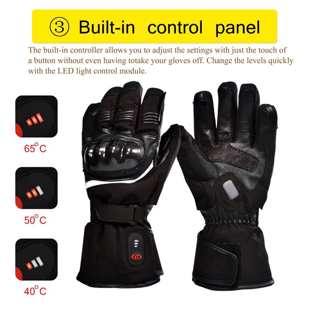 Перчатки с подогревом для мотоциклистов, Спаситель, с электрическим аккумулятором, для катания на гоночном велосипеде, зимних прогулок, спо...