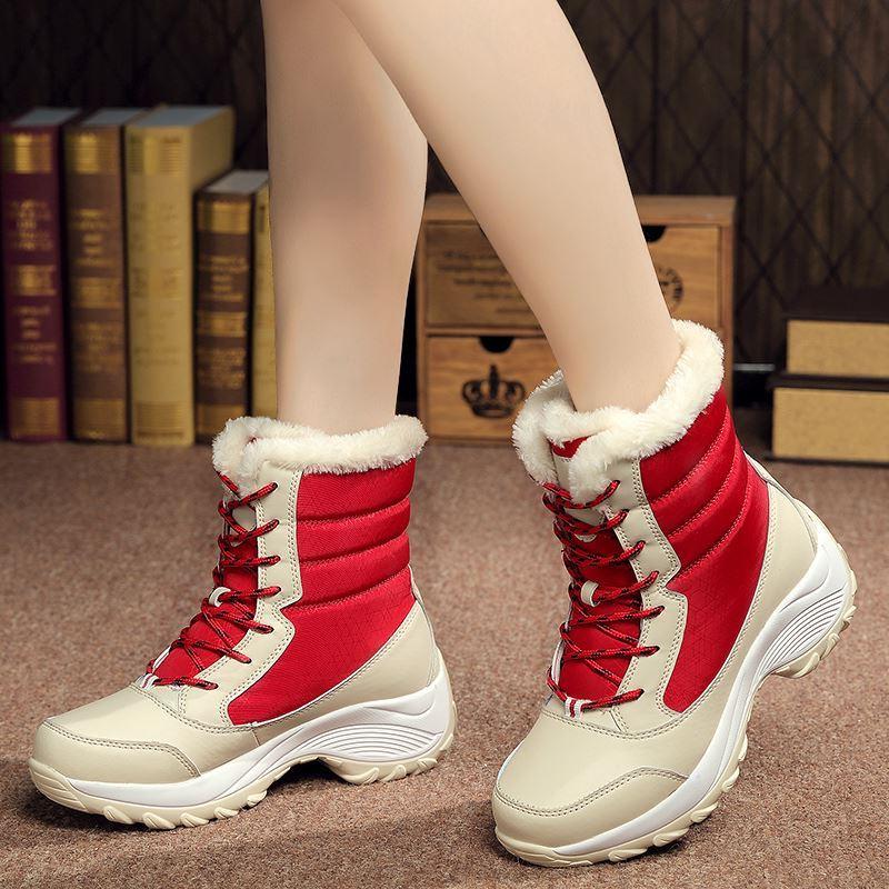El Cómodo Tubo Impermeable Terciopelo Del white Alto Con Algodón Invierno Zapatos blue Más Las Nieve Mujeres top De Black Ac465 red Botas gSOqw75wx