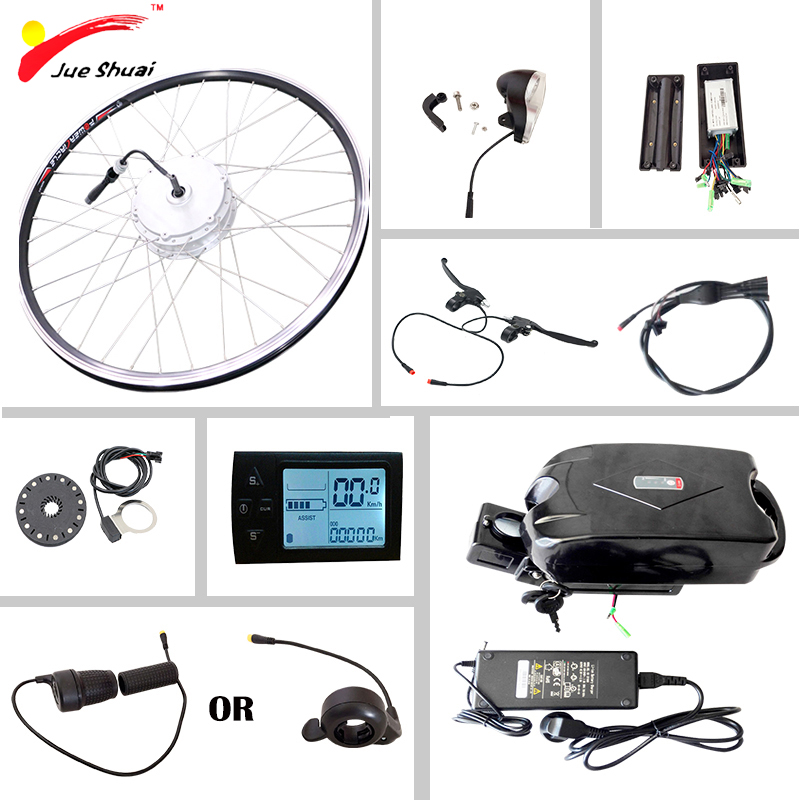 цена на Electric Bike Conversion Kit with Battery 36v10ah Electric Bicycle Motor Wheel 250W 350W 500W E-bike Ebike Electric Bike Kit