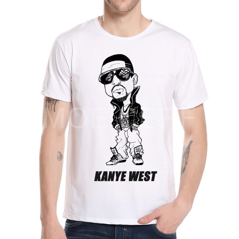 재미 있은 만화 새로운 여자 / 남자의 3 차원 T 셔츠 Superstar는 힙합을 인쇄했다 Kanye 서쪽 t- 셔츠 반팔 tshirt 소년 정상 T5s K5-15 #