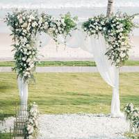 Artificial Fake Wisteria Vine Rattan Hanging Garland White Silk Flowers String Home Party Wedding Decoration Outdoor Arch Decor