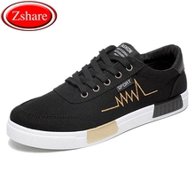 2018 new fashion spring autumn men canvas shoes casual flats breathable lightweight sneakers man lace up students shoes qa 43 Fashion Breathable Canvas Shoes Men Casual Shoes 2019 Spring New Arrival Lace-up Comfortable Men's Sneakers Wild Students Flats