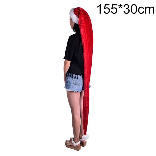 Christmas Gift 1 Pcs 155cm Adult Red Super Long Christmas Hat Santa Hats  Event Party Supplies Home Garden Decor Accessories 9c8229b6c85
