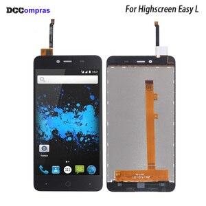 Image 1 - עבור Highscreen קל L LCD תצוגת מסך מגע Digitizer חיישן עבור Highscreen קל L תצוגת מסך LCD טלפון חלקי משלוח כלים