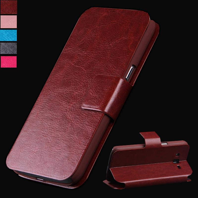 Luxury Silicone + Pu Leather Flip Case For Alcatel One Touch Pop Star 4G 5070 5070X 5070D Case 5.0 Phone Cover +Stand TV Movie