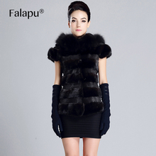 FALAPU new style Winter Warm Women's Mink Fur Coat Fashion Outerwear High Quality F1H1020(China)