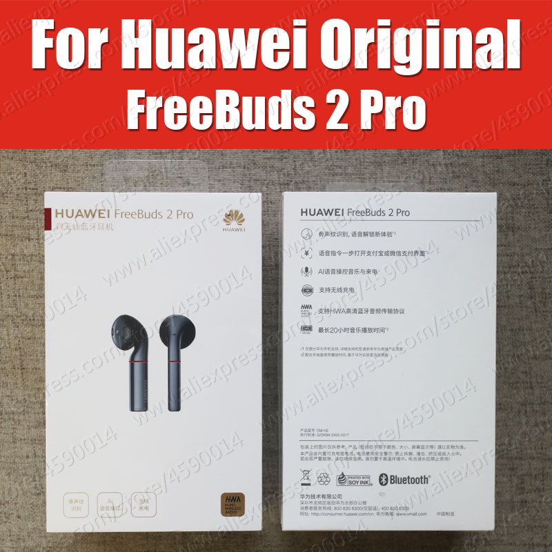 CM H2 HUAWEI FreeBuds 2 Pro Bluetooth 5 0 Wireless Earphone with Mic Music Touch Waterproof