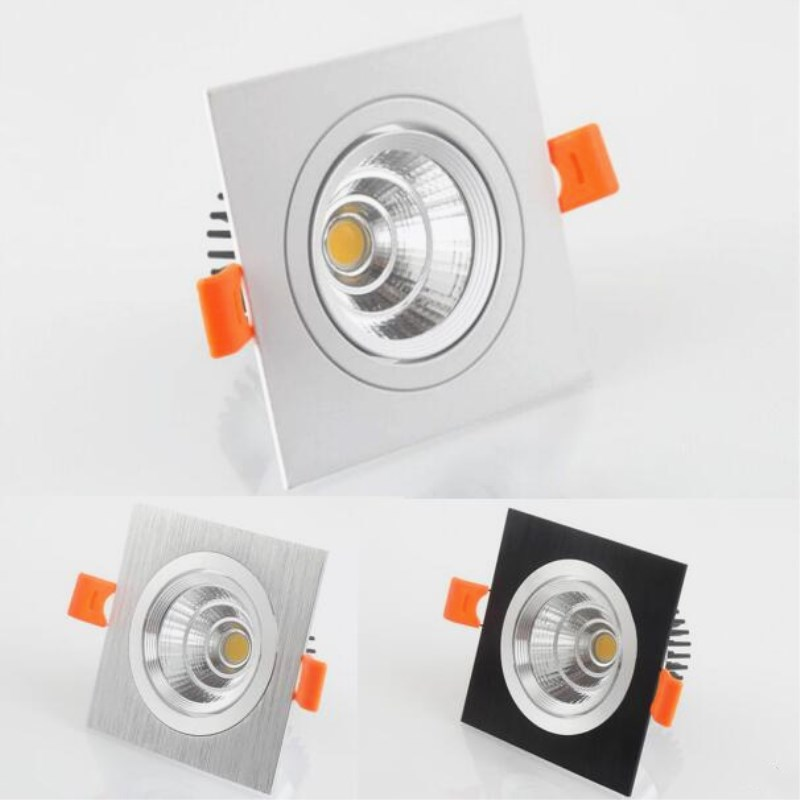 Dimmable Square COB LED Downlight 10W 12W 15W 20W AC85-265V Down Light Spot Recessed Bulbs