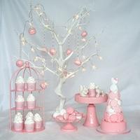 Pink cake stand set wedding dessert cake stand high quality