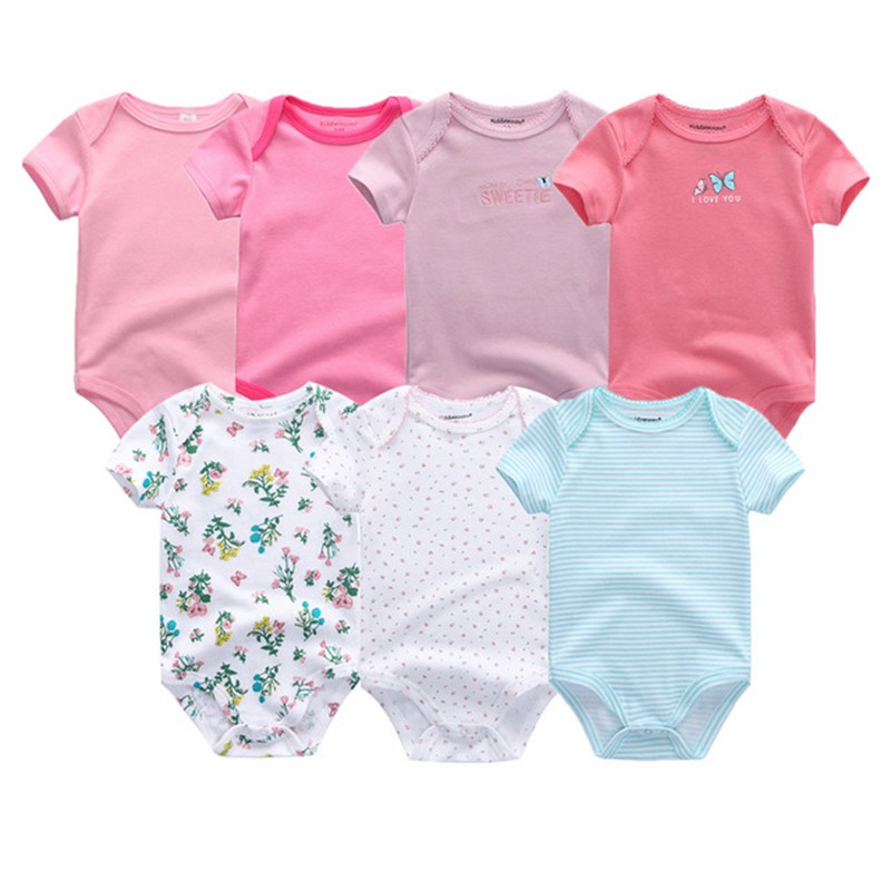 HTB12PqubMKTBuNkSne1q6yJoXXaP Top Quality 7PCS/LOT Baby Boys Girls Clothes 2019 Fashion Roupas de bebe Clothing Newborn rompers Overall baby girl jumpsuit