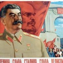 Soviética cccp USSR glory a Lenin glory a Stalin clásico pegatinas de pared de la lona de póster vintage de pintura Bar decoración regalo