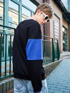 Image 3 - Pioneer Camp มาใหม่เสื้อแฟชั่นเสื้อผ้าแบรนด์ผู้ชายสีดำลาย hoodie sweatshirt ชายหลวมผ้าฝ้าย AWY901037