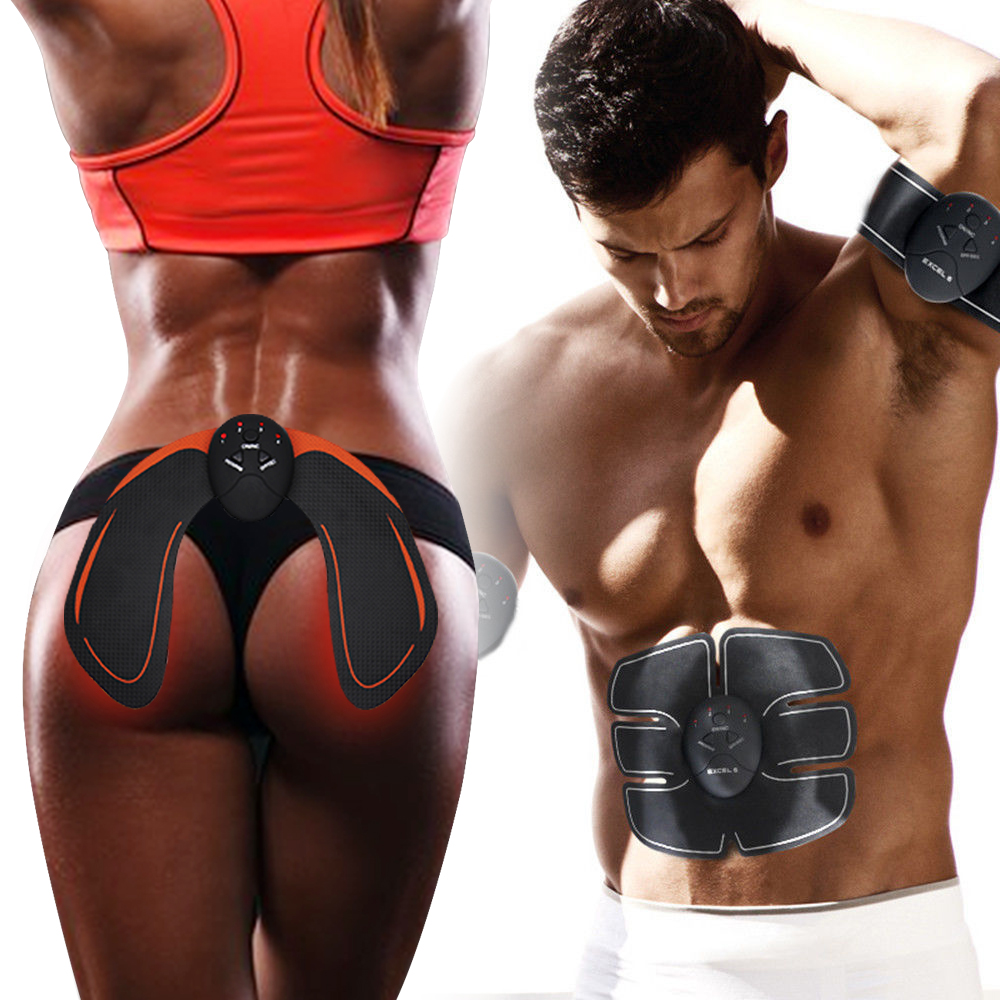 EMS Hip Trainer Muscle Stimulator Trainer ABS Fitness Lifting Buttock Abdominal Trainer Fitness Body Slimming Massage Unisex reflection