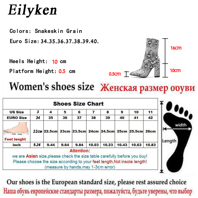 8b041652d Eilyken Sexy Boots Animal Snakeskin Prints Fashion Woman Boots Streetwear  Pointed toe high heels Zipper Booties size 35 42-in Ankle Boots from Shoes  on ...