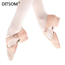 лучшая цена Genuine Leather Stretch Dance Shoes For Women Girls Soft professional Jazz Dance Shoes Twist Dance Shoes Sandals Ballet Slippers
