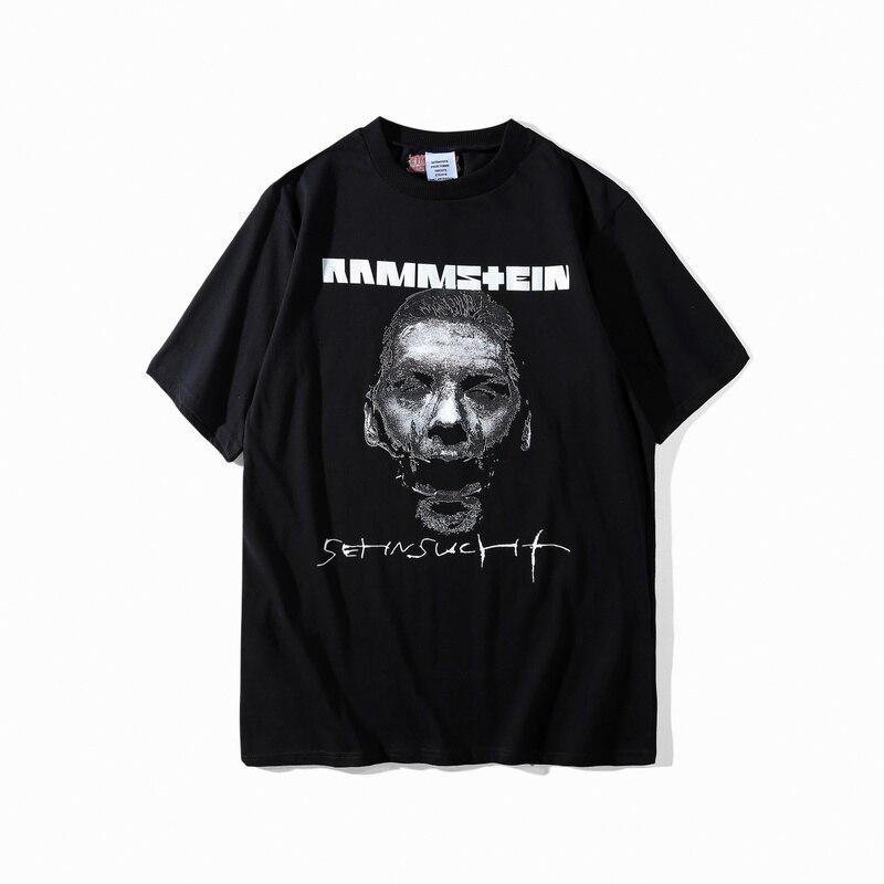 2018 Vetements Deutschland Rocky Band Gedruckt Frauen Männer T shirts t-shirts Übergroßen Hiphop Streetwear Männer Sup Vetements Baumwolle t-shirt