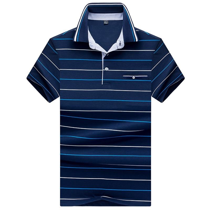 Brand Mens Short Sleeve   Polo   Shirts 2018 Summer Designer Striped Cotton Casual   Polo   Shirt Men   Polos   Tees 3 xl Clothing AF8306