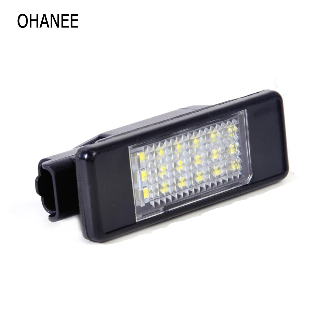 Ohanee 2 Led Number Lamp License Plate Light Bulbs Case For Peugeot Wiring Numbers Citroen C2 C3 C4 C5 C6 C8 Car Styling Accessories In Signal From Automobiles