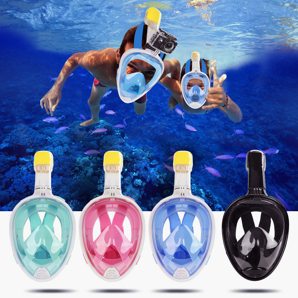 <font><b>Full</b></font> Face Snorkeling <font><b>Mask</b></font> Set Diving Underwater Swimming Training Scuba Mergulho Snorkeling <font><b>Mask</b></font> For Gopro Camera