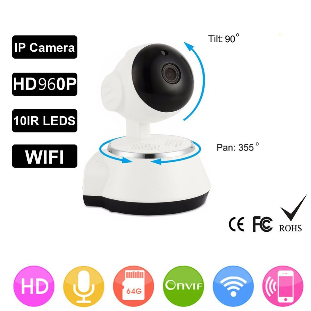 HD 960P Wireless Security IP Camera WifiI Wi-fi Camera R-Cut Night Vision Audio Recording Surveillance Network Baby Monitor c7824wip hd wireless security ip camera wifii wi fi r cut night vision audio recording surveillance network indoor baby monitor