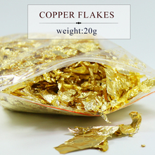 20 grams Copper flake , fragment of imitation gold leaf foil sheets for all kinds decorations