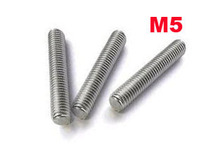 M5 thread rod length 1 meter stainless steel 10 pcs/lot