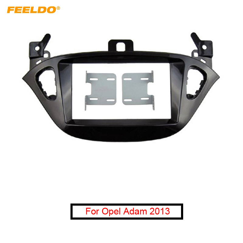 FEELDO Car 2 DIN Refitting Radio Fascia Frame for Opel Adam 2013 Stereo Dash face Plate Frame Panel Mount kit Adapter #AM5223 image