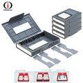 OImaster Protetor de Caixa de Proteção À Prova de Choque HDD Storage Case para 3.5/2.5 inch IDE SATA SSD HDD Hard Disk Drive-5 PCS/LOT-Cinza