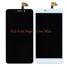 Adecuado para Umi Super LCD + 100% nueva pantalla táctil LCD panel digitalizador de repuesto Umi Max componentes de la pantalla + herramientas gratis