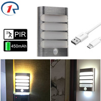 ZjRight LED Cabinet Lights Energy saving Wireless PIR Auto Motion Sensor wall lamp Kitchen bedroom Wardrobe foyer Stair lighting