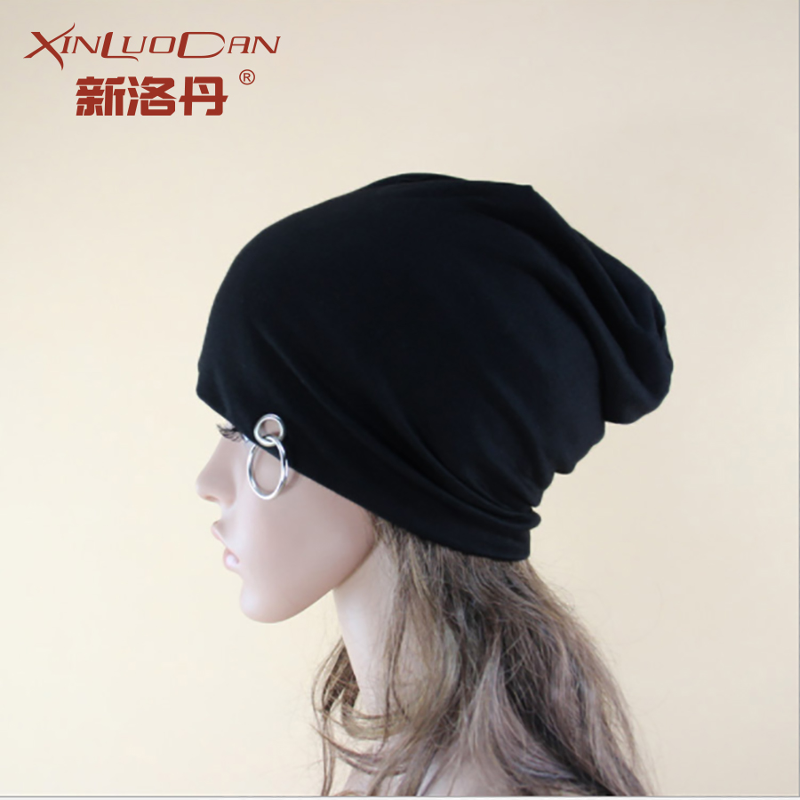 2017 Punk Ring Winter New Beanies Solid Color Hat Unisex Plain Black Warm Soft Beanie Skull Knit Cap Gorro For Men Women hight quality winter beanies women plain warm soft beanie skull knit cap hats solid color hat for men knitted touca gorro caps