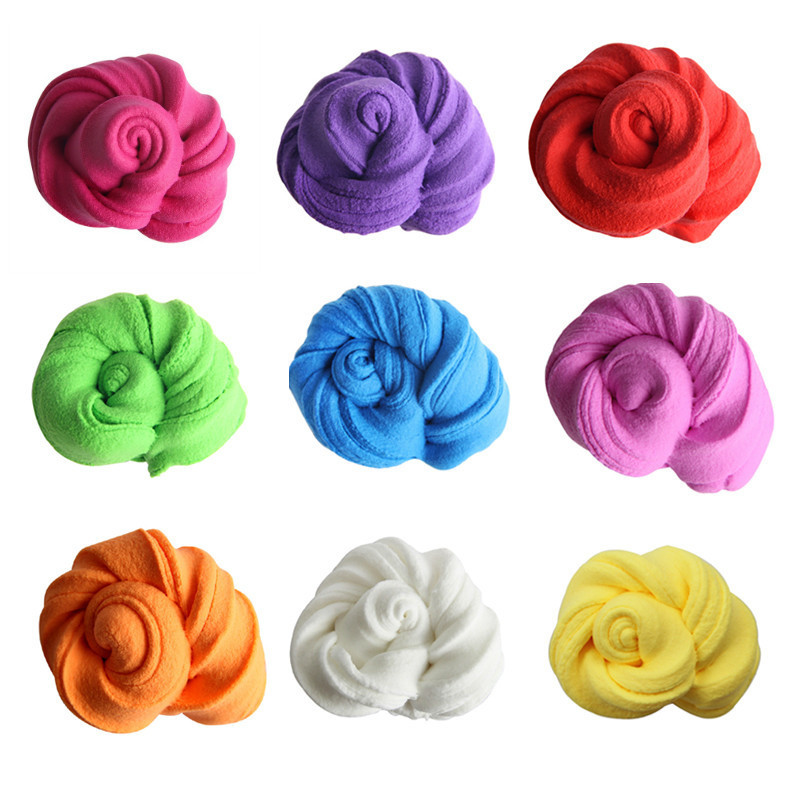 1 Bag Hot Sale DIY Cotton Light Clay 3D Fluffy Foam Slime Scented Stress Relief No Borax Education Craft Mud Antistress Toy