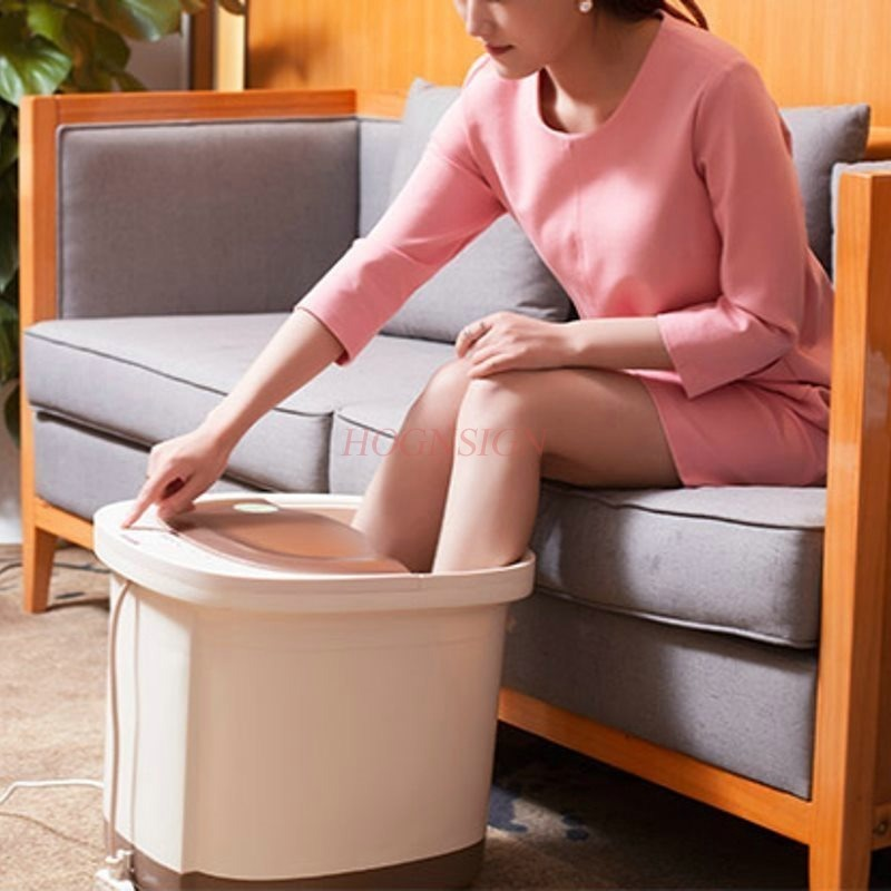 Footbath Electric Massage Heating Household Electronic Automatic Massager Feet Wash Plantar Clean Foot Bath Barrel Hot Sale fully automatic household foot massage machine golden deep barrel footbath device foot bath electric heating valuable