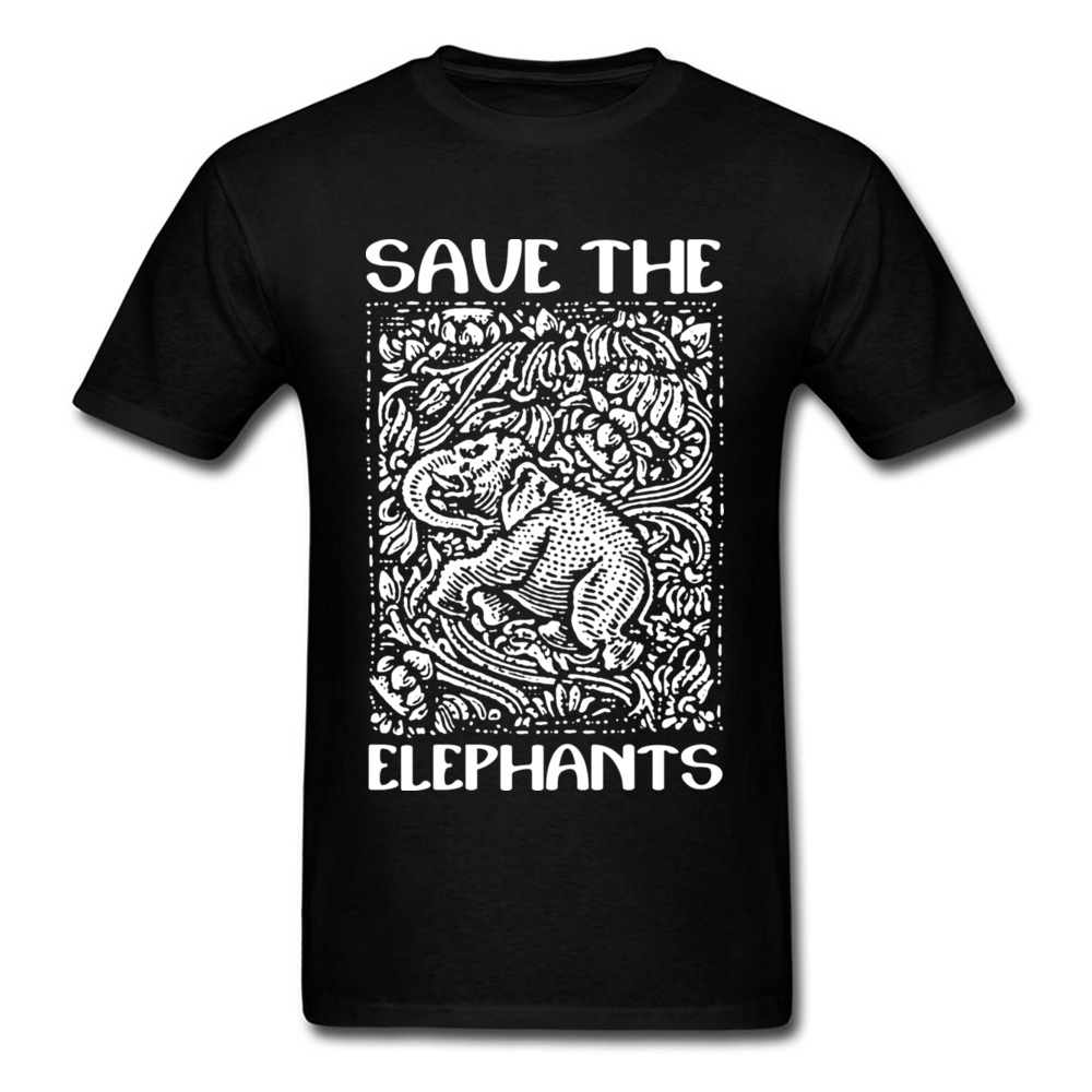 9779ee765 Detail Feedback Questions about 2018 Vintage Chic Men Black White T shirt  Save The Elephants Animal Print Short Sleeve Top Tee Shirt Free Shipping on  ...