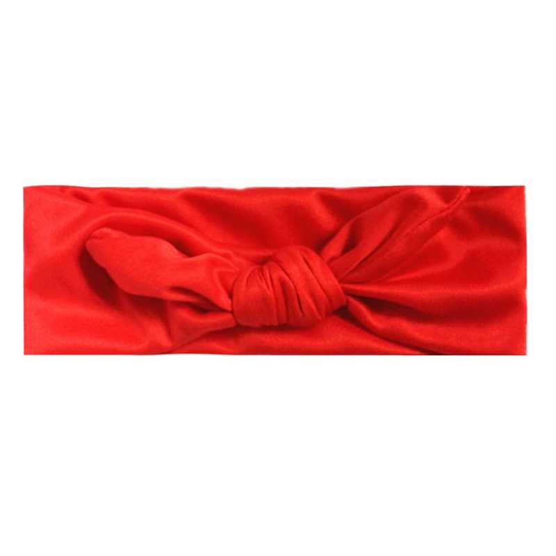 Diadema elástica de algodón para niñas, banda de pelo anudada para bebés, accesorios para el cabello para bebés, envío directo BC0815