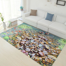 2000mm X 3000mm Mediterraneanstyle 3D Rug Spring and Summer 6mm Ultra-thin Carpet Living Room Carpets Coffee Table Mat Sofa Pad
