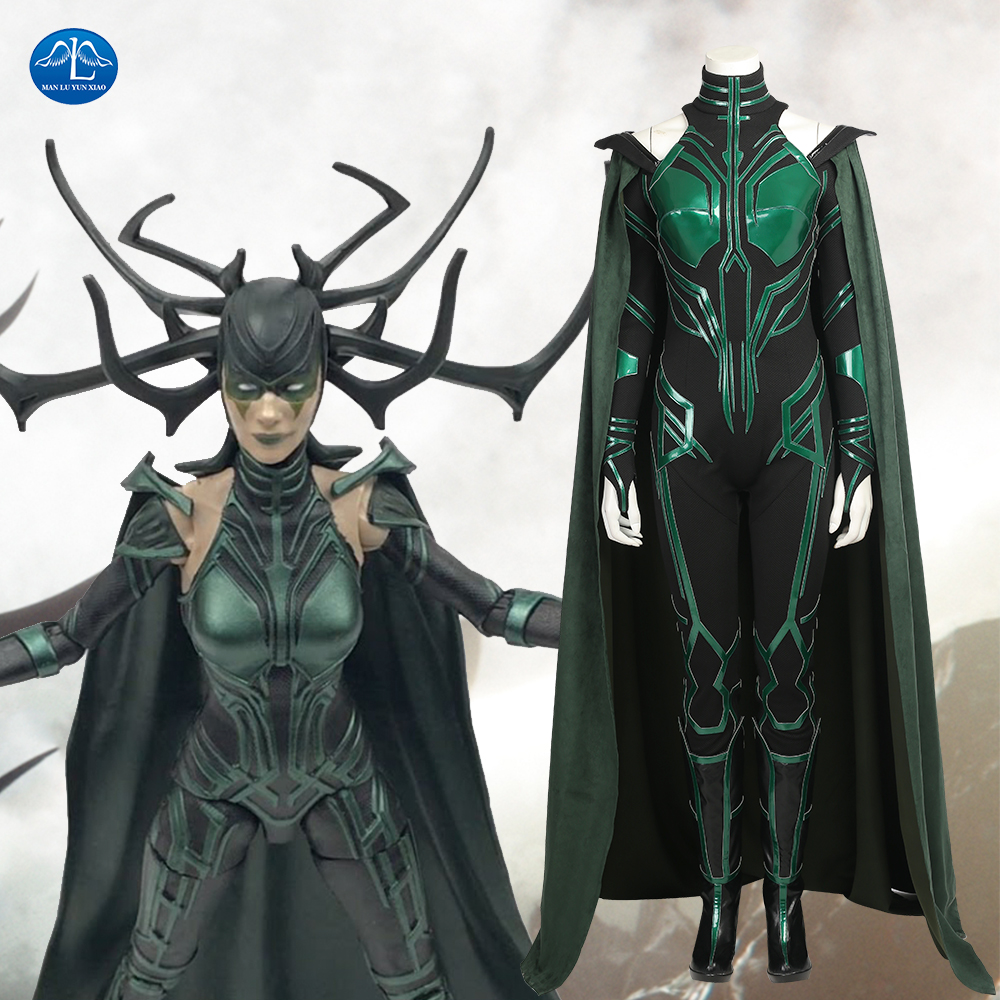 MANLUYUNXIAO Hela Cosplay Costume Thor Ragnarok Cosplay Movie Thor 3 Costume Sexy Women Halloween Costumes For Women