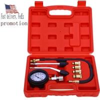 9pcs Set Petrol Gas Engine Cylinder Compressor Gauge Meter Test Pressure CompressionTester Leakage Diagnostic Post Promotion