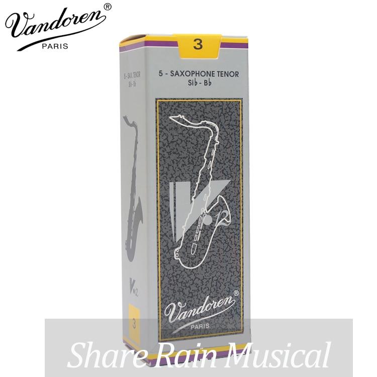 2.5#, 3#,Grey Box of 5 piece France Vandoren V12 tenor Sax Reeds / Saxophone tenor Bb Reeds original france vandoren java soprano sax reeds saxophone soprano sib bb reeds strength 2 5 3 grey green box of 10
