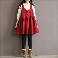 Women Dress Purple Red Brown Black Color O Neck A Line Women Dress High Waist Plus
