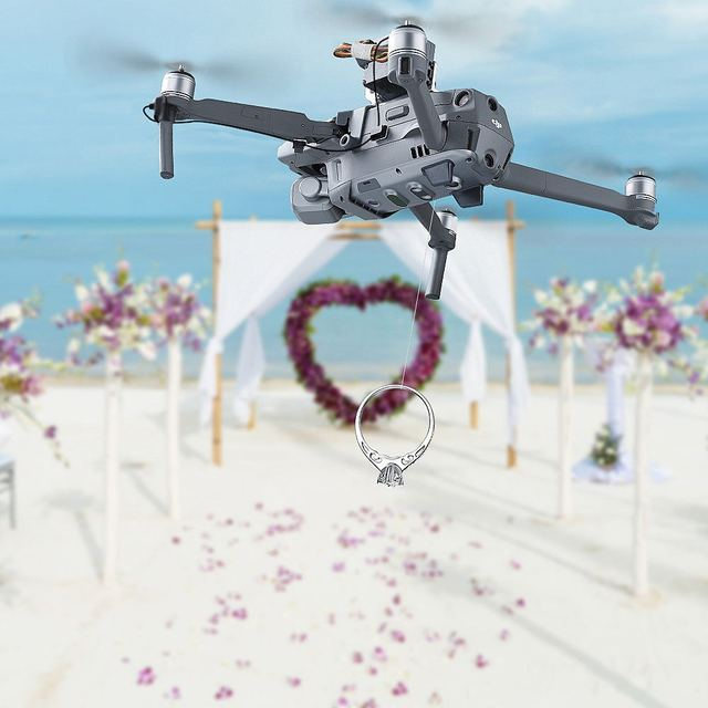 Air Dropping Thrower System Wedding Ring Gift Emergency Remotely Delivery Rescue Fishing for DJI Mavic