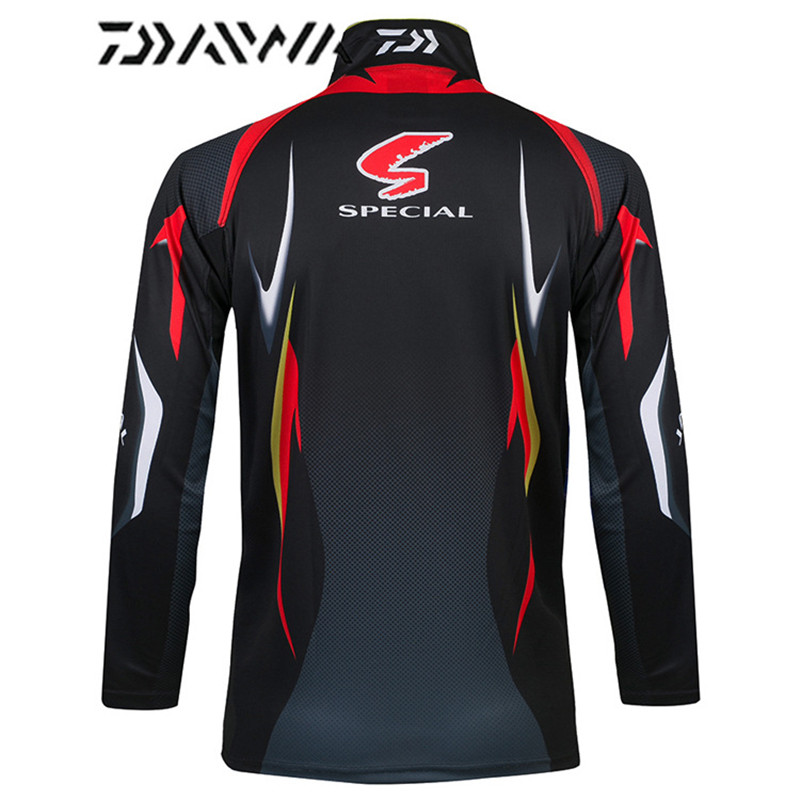 Image 5 - Daiwa brand 2018 autumn new men professional fishing t shirts UPF 50+ sunscreen clothing breathable fishing shirt-in Fishing Clothings from Sports & Entertainment