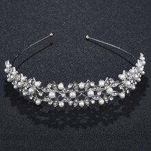 Trendy Silver  Headband Alloy Women Bridal Headpiece Jewelry Wedding Bride Accessories