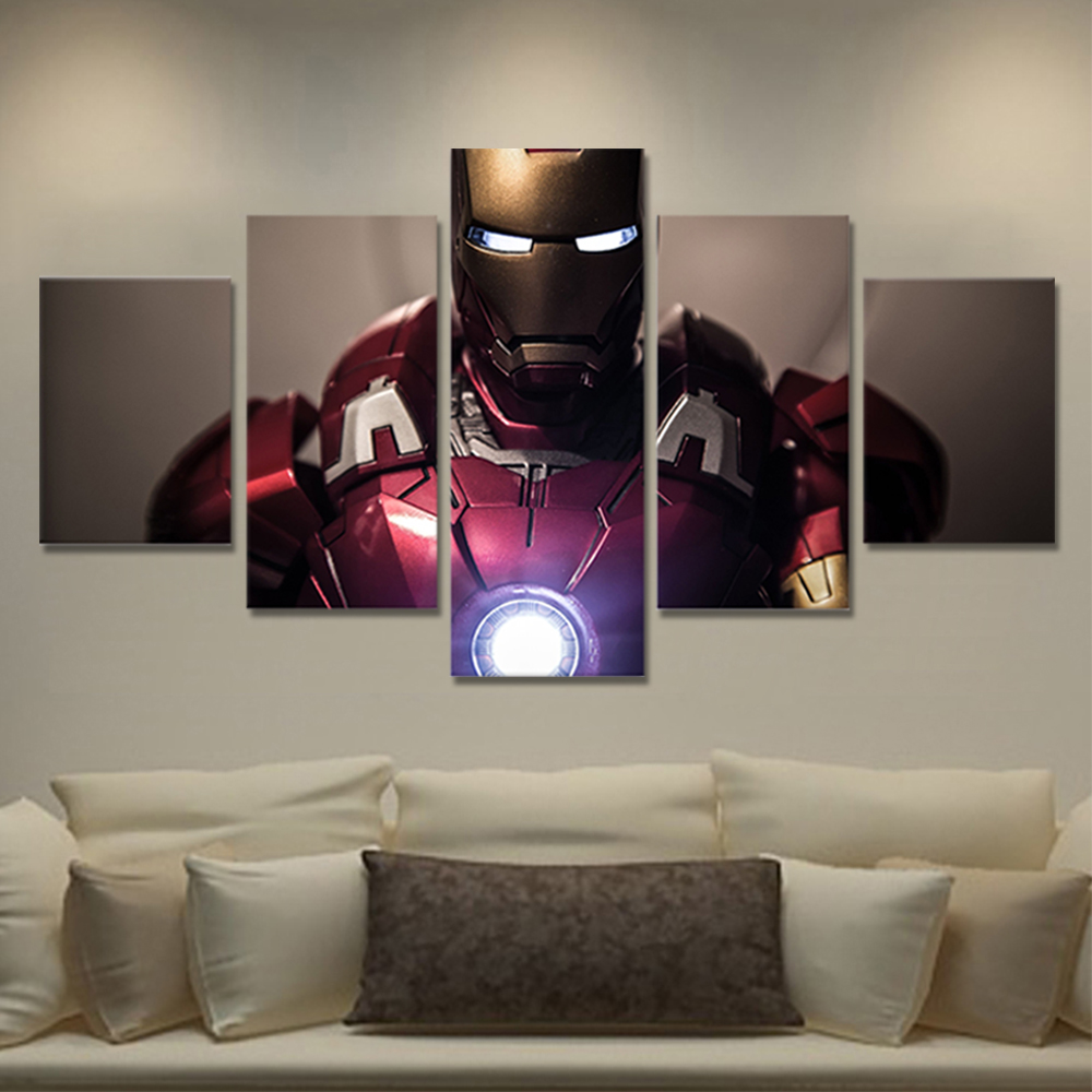 Unframed HD Canvas Prints Iron Man Giclee Wall Decor Prints Wall Pictures For Living Room Wall Art Decoration Dropshipping