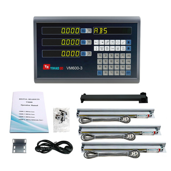 3 Axis Dro and Linear Ruler for Lathe Milling Machines X Y Z Axis Travel Length 100 200 300 400 500 600 700 800 900 1000mm